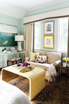 Shrink Your Favorites - 50 Best Small Space Decorating Tricks We Learned in 2016 - Southernliving. If you have a small space to fill, look to small-scale versions of your favorite pieces, like the loveseat version of a beautiful sofa, or a side table version of a pretty coffee table. It will fill the space with style, only smaller.