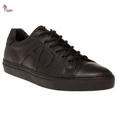 Armani Jeans Textured Toe Cap Homme Chaussures Noir - Chaussures emporio armani (*Partner-Link)
