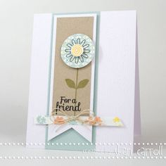 Shari Carroll: …my world – March Kit card ...and we have a winner! - 2/28/13.  (Pin#1: Banners... Pin+: Flowers: Stamped).