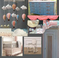 Vintage Parisian Hot Air Balloon Nursery- mood board by Jocelyn