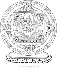 Welcome to Dover Publications Dover Coloring Pages, Mandala Coloring Pages, Printable Coloring Pages, Adult Coloring Pages, Coloring Books, Tibetan Mandala, Tibetan Buddhism, Mandalas Drawing, Thai Art