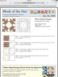 5 Patch Frame- Quilt a Day