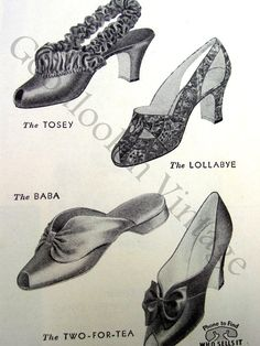 Glamorous Slippers 1938 Illustrated Daniel by GoodlookinVintage, $7.00