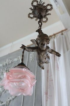 "Ancient and modern times, gently Coconfouato ""lamp hanging antique French Angel"" [antique lighting and antique furniture] antique United Kin ..."