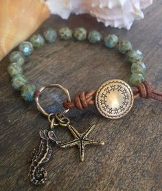 Sea Horse&Starfish Hand Knotted Bracelet: