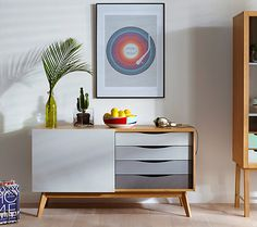 New to the House by John Lewis range is this Casper retro-style sideboard. A nice, functional design with some midcentury influence, the sideboard has Side Board, Sliding Cupboard, Sliding Doors, House Beds For Kids, Buffet Design, Oak Sideboard, Vintage Sideboard, Credenza, Scandinavian Furniture