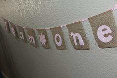 I am one, Burlap Banner on Etsy #birthday #one #banner