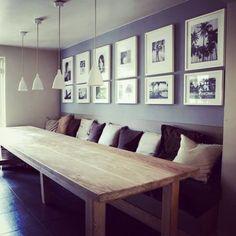 Leefkeuken waarin echt geleefd wordt. Een tafelbank heeft het voor mij echt helemaal! Aan de andere zijde plaatsten we losse stoelen. #binnenhuisarchitect #interieuradvies #interieur #interieurontwerp #landelijkwonen #landelijkinterieur by binnenhuis_architect