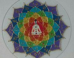 Mandala vitral Reiki 30cm