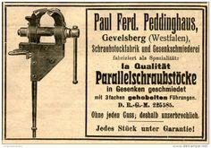Original-Werbung/Anzeige 1906 - PEDDINGHAUS GEVELSBERG / PARALLELSCHRAUBSTÖCKE  - ca. 100 x 70 mm
