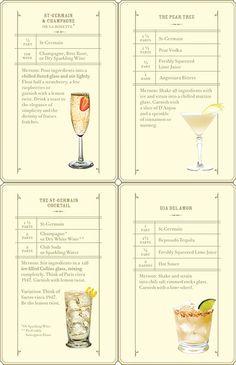 St. Germaine cocktails