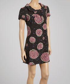 Look at this #zulilyfind! Navy & Pink Bloom Dress by Aryeh #zulilyfinds