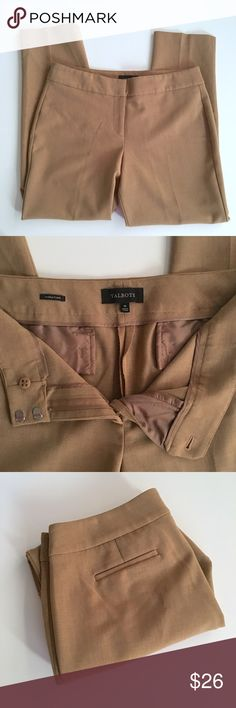 Talbots Tan Signature Style Career Pants Talbots Tan Signature Style Work/Career slacks // Sz 10 // 48% polyester, 47% viscose, 5% spandex // non-smoking home // Same Day/Next Day Shipping!! // 2.25.26 // Bundle Discounts // measurements provided upon request Talbots Pants