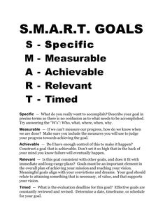 Smart Goals Worksheet | SMART-GOALS