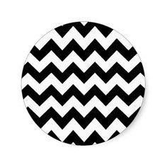 chevron stripes round sticker