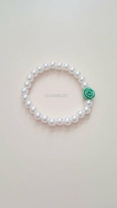 Mint Jewelry, Fall Jewelry, Jewelry Crafts, Acorn Necklace, Beaded Necklace, Beaded Bracelets, Flower Bracelet, Pearl Bracelet, Silver Charms
