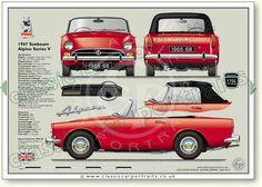Sunbeam Alpine prints Series V 1965-68 classic car portrait