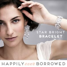 If you feel you're the kind of woman who likes to be the center of attention, we dare you to shine the night away with Elizabeth Bower's Star Bright Bracelet!  Rent NOW!  https://www.happilyeverborrowed.com/collections/bracelets/products/isabella-cuff?variant=108014542