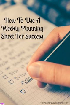 If you want to structure your time and organize your life you need to use a weekly planning sheet! This will help you structure your week the right way!