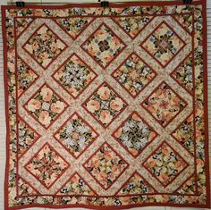 Soft and Simple Floral Tablecloth Lap Quilt by Quiltsbysuewaldrep, $120.00
