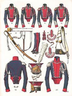 Imperial Guard, 1st regiment (Polish) Chevau-Legers Lanciers,Trooper Uniforms, 1807-1814 (Plate 47b)