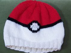 A simple hat knit in the round and embellished with duplicate stitch. Perfect for the Poke-enthusiast in your life!