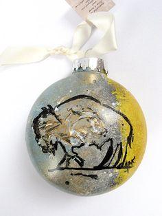 Christmas Holiday Ornament  Original Buffalo by SilentMyloStudio