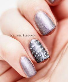 a england Ascalan and Princess Tears nail polish nail art