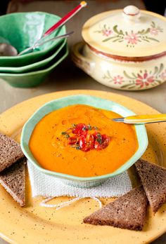 Roasted Tomato Bisque with Porcini Mushroom Oil By Beautiful Food : Cooking Melangery