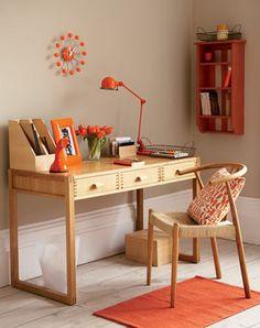 Adoro Decoração - Escritorios coloridos - laranja