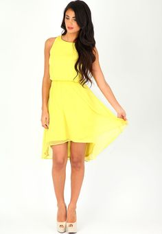 Really want a yellow dress at the moment... Henisse Asymmetric Crepe Dress £23.99