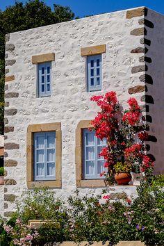 Houses in Patmos Isl, Greece