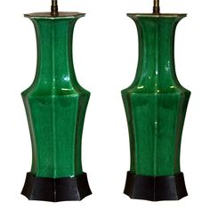 1stdibs - Pair Antique Chinese Porcelain Apple Green Lamps explore items from 1,700  global dealers at 1stdibs.com
