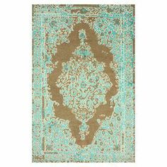 nuLOOM Hand-knotted Persian Overdyed Turquoise Wool/ Viscose Rug x - Overstock™ Shopping - Great Deals on Nuloom - Rugs Traditional Rugs, Traditional Design, Turquoise Rug, Turquoise Accents, Shabby, Rugs Usa, Contemporary Rugs, Hand Knotted Rugs, Joss And Main
