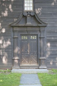 Ashley House's, circa 1734, ornate front door.