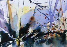 Woodland Edge, Watercolour by Adrian Homersham