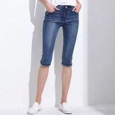 Denim Capri Skinny Jeans
