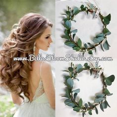 Excited to share the latest addition to my #etsy shop: Flower crown eucalyptus Boho Wedding, Green Flower Crown, Greenery, Floral Crown, Flower Head Piece, Wedding Crown, Eucalyptus crown etsy http://etsy.me/2Bg4PRv #weddings #accessories #green #white #greenerycrown #