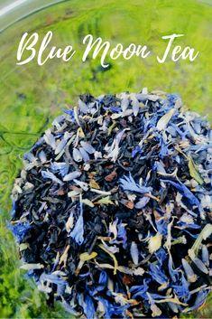 Blue Moon Tea Blend Recipe<br> A blue moon tea blend featuring Earl Grey tea, lavender, cornflower and German chamomile. Herbal Tea Benefits, Herbal Teas, Homemade Tea, Grey Tea, Liqueur, Tea Blends, Detox Tea, Cleanse Detox, Healthy Cleanse