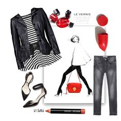 A fashion look from March 2016 featuring peplum top, genuine leather jackets and denim skinny jeans. 3.1 Phillip Lim, Nars Cosmetics, Bobbi Brown, Polyvore Fashion, Peplum, Zara, Clothing, Fashion Trends, Beauty