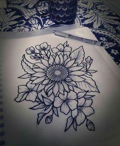 Image result for flower tattoos #flowertattoos