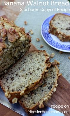 Banana Walnut Bread: make this popular Starbucks treat at home.