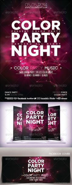 Color Party Night Flyer
