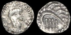 710-760 silver coin, possibly from eastern England. Reverse has a very abstract porcupine!