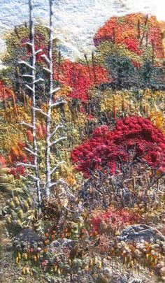 Julie Crabtree, custom fiber art Try felting something like this