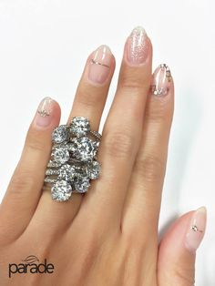 Parade's New Classic Diamond engagement ring collection goes with every manicure ;-)