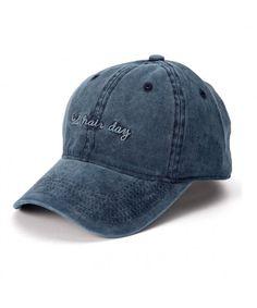 27b7341565b5a Denim Baseball Cap Hat Adjutable Plain Cap for Women with Bad Hair Day  Printing Navy CQ18655MT30