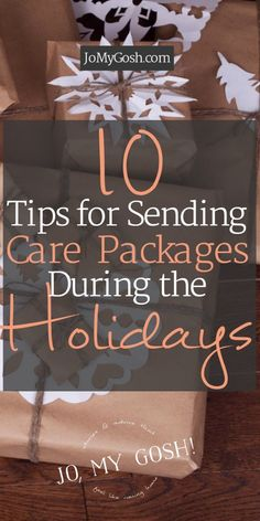 Holiday care package tips including mail deadlines, what to send, and ideas for how to ship cookies.  #spon #operationintouch