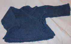 Merino Hand Knit Newborn Kimono