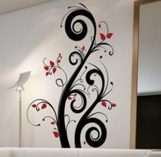 Creative Wall Painting, Wall Painting Decor, Wall Decor, Tree Design On Wall, Wall Design, Bedroom Paint Design, Indian Contemporary Art, Living Room Tv Unit Designs, Tree Designs